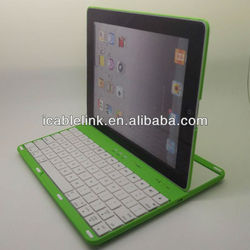 Colorful 360 degree Rotatable ABS Wireless Keyboard Case Cover for Ipad 2 ipad 3