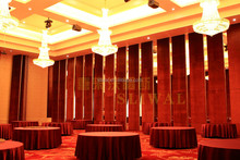 China Manufacturer Aluminium Hotel Operable Partition Wall System wall partition materials