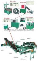 Scrap Car Tire Recycling Machine / Tyre Recycling Factory / Tire Crumb Machine