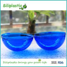 Big Solide Blue Hollow Design Decoration Plastic Christmas Ball 100mm