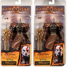 "Neca God of War 2 II Kratos in Ares Armor W/Blades(Mouth Opend) 7""Toy Action figure"
