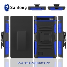 High impact hybrid phone case for blackberry leap