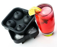Portable Silicone Mold for Whiskey Sphere - Round Ice Cube Tray for Popsicle