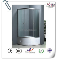 cheap simple ABS fiberglass small shower enclosure with tray