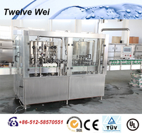 fully automatic can gas water/red bull bottling equipment