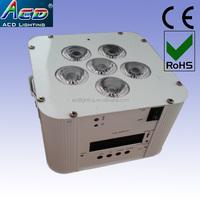 6*6in1 RGBWA+uv IR wifi control battery powered wireless dmx led uplight