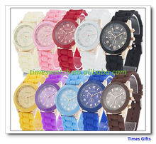 Geneva Popular Silicone Quartz Men/Women/Girl Unisex Jelly Wrist Watch