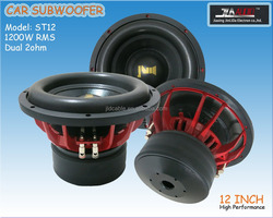 High power Car Subwoofer 12 Inch with dual black NOEMX spiders (ST12)