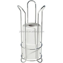 Hot-selling chrome metal wire toilet roll holder