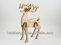 3D Wood Christmas Deer Table Decoration