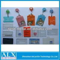 Hard plastic id card holder