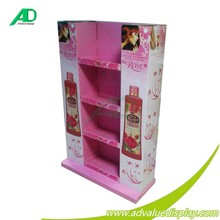 4C printing corrugated cardboard retail store fixtures for skin care