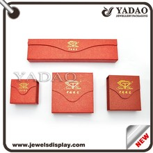 Good quality special opening jewelry paper box with lining and logo