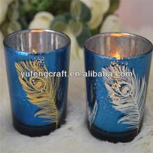 Mesa de galvanoplastia para candelabros de bodas de oro de la boda candelabro, esmerilado de vidrio de la lámpara de sombra