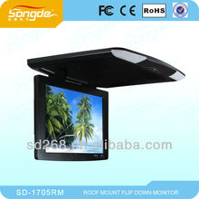 Super Slim 18Inch Flip Up Screen with Digital New Panel,HD image Car Roof Mounted Monitor