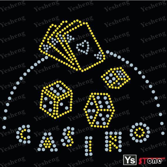 Casino logo cristal caliente del arreglo adorno, Casino transferencias de diamantes de imitación