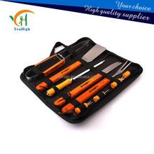 YN008 bbq tools,bbq set,bbq tool set,wooden bbq,bbq tools wtih carry bag