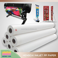 Waterproof wideformat print materials for advertisement use