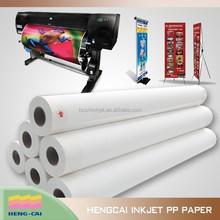 Waterproof wideformat print materials for advertisement use