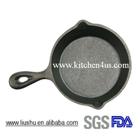 2015 hot selling mini cast iron fry pan skillet