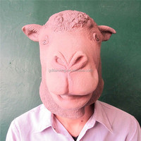Alibaba Express Latex Camel Mask full head Deluxe Animal Party Mask