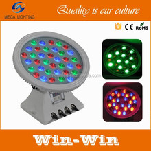 36pcs RGB outdoor flood light led round wall washer