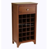 Wood Wine Rack 24 Bottle Cabinet Storage Accent Furniture Liquor Stand Drawer