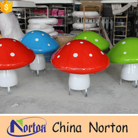 child amusement park decorative mushroom resin garden statue NTRS-CS233S