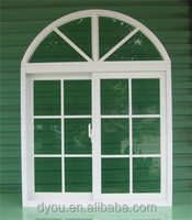 aluminum frame curved sliding window