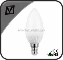 5W led candle bulb, led bulb with candle shape, E14 5w led candle light, 400lm