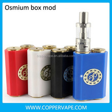 Side by side osmium box mod Stainless steel osmium 18650 black box mod osmium