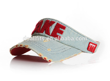 Top Quality custom washed embroidery visors