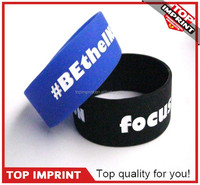 Exclusive Custom Advertising Specialty Debossed Logo One Inch Silicone Bracelet