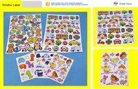 Custom cartoon design paper adhesive label sticker