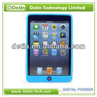 Hot Good handfeeling Silicon soft case for iPad Mini cover accept Paypal