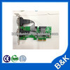pci serial port card plastic card with serial number printing PCI-E card MOQ100