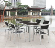 plastic wood outdoor dining table sets
