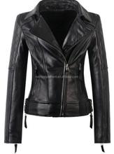 2015 washed women PU leather jacket
