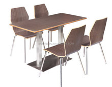 fast food tables and chairs cheap price four people