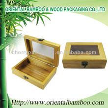 Caja de madera natural eco- ambiente de moda de embalaje caja de manualidades con un bloqueo de la caja de madera