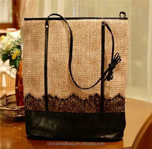 green style lady bags woven bags hot sell handbags straw shoulder bags