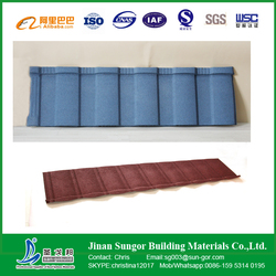 Aluminium Roofing Sheet Colorful Stone Coated Metal Roof Tile