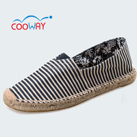 Printed hemp rope shoes for women stock available
