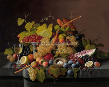 Customized Availbale Big Wholesale in Dafen Oil Painting Village Handmade or Printed Fruit Oil Painting