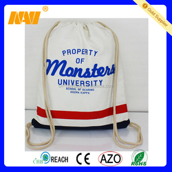 Promotional natural cotton canvas drawstring bag