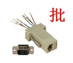 for sale DB9 male serial DB9 to RJ45 adapter RJ45 female head revolves network (wireless order) computer head module