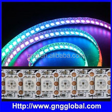 144 leds per meter New ws2812b smd smart pixel led flexible strip light full rgb pixel led strip control by sd card controller