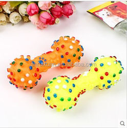 Pet talking toys The dog dog toy products The dog dog toy Seven color dumbbells Rubber toys