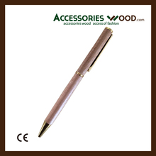 Wooden pen with different metal colors and customized logo for business men