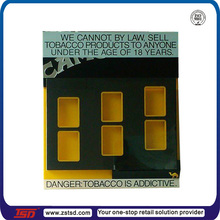 TSD-A072 new china products for cigarette display tray/acrylic cigarette advertisement box/cigarette pack display
